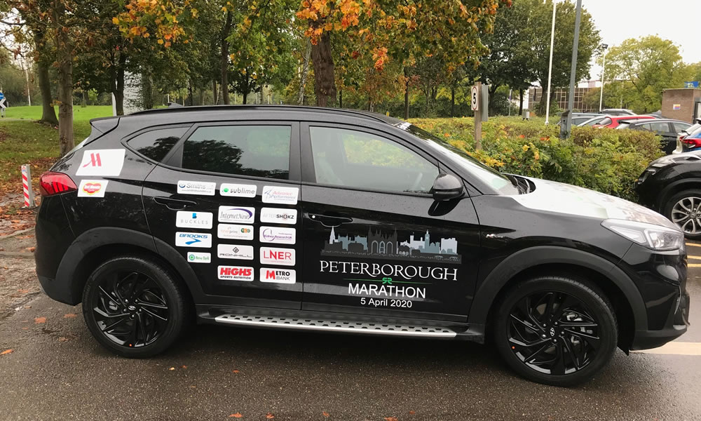 Smiths Hyundai Tuscon - Peterborough Marathon Car 2020